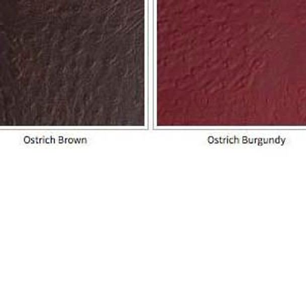 Image for Faux ostrich Soft Vinyl Felt Backed 54W In Brown, Burgundy, Rawhide brown At Fabric Warehouse