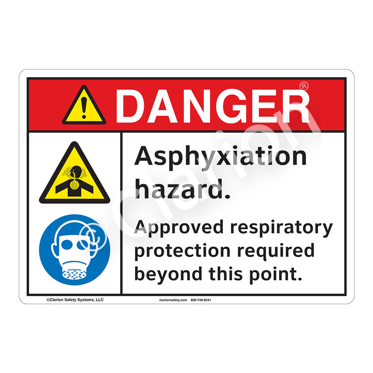 Inhalation Hazard Safety Sign