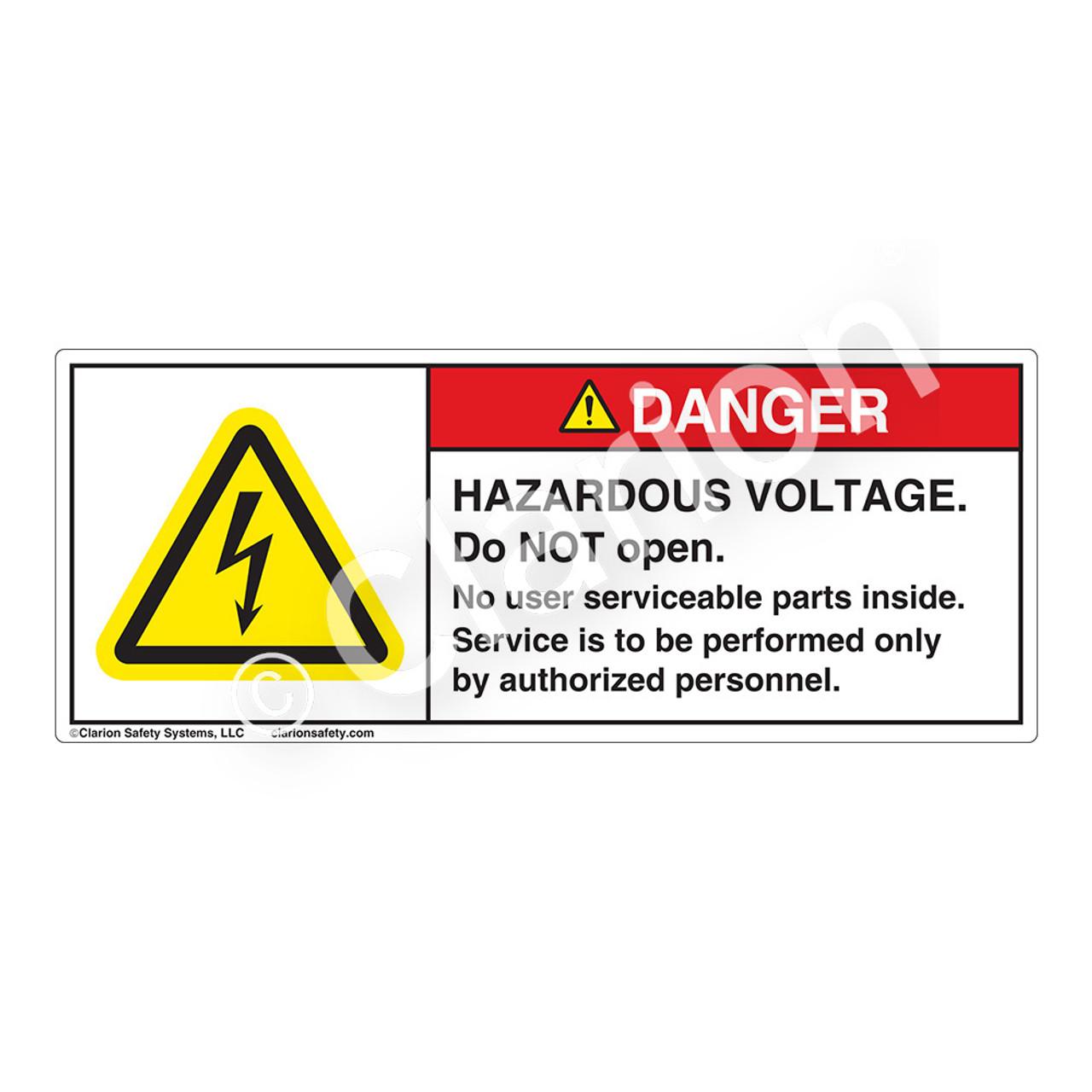 Danger Hazardous Voltage H6010 Gbdh Label