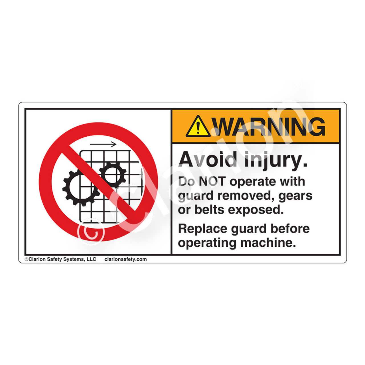 Guarding Safety Label
