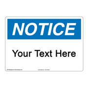 custom notice signs clarion safety systems