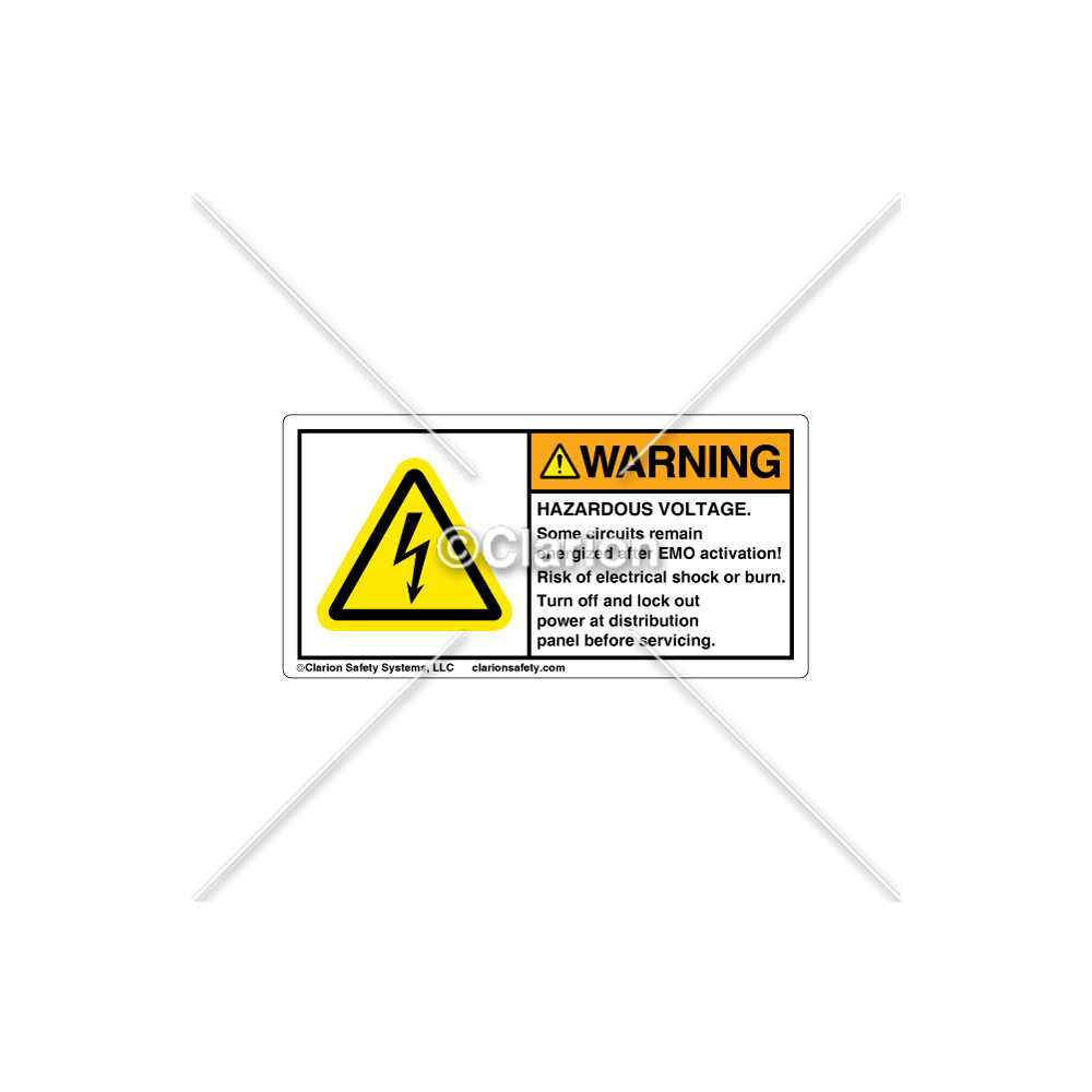 Warning Hazardous Voltage C5216 01 Label Electricity Why Does Remains Same Over Parallel Circuit