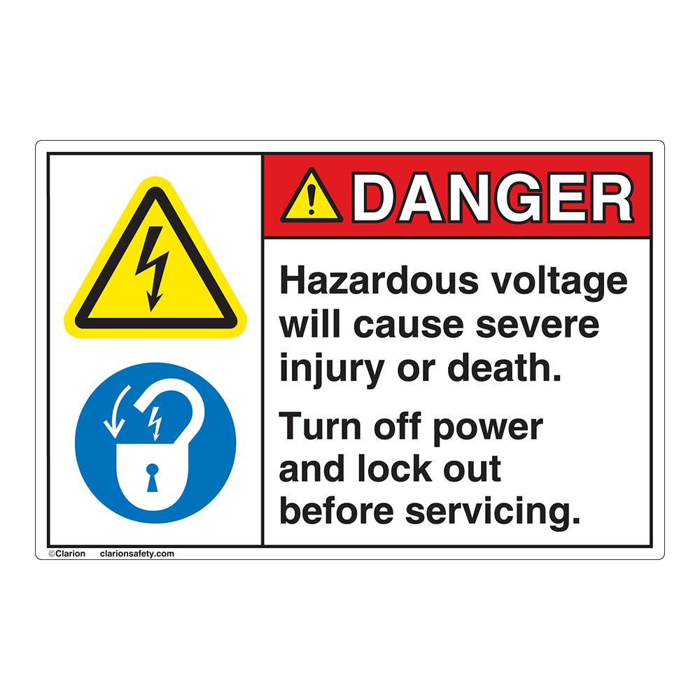 Danger Hazardous Voltage Emc 11 Label