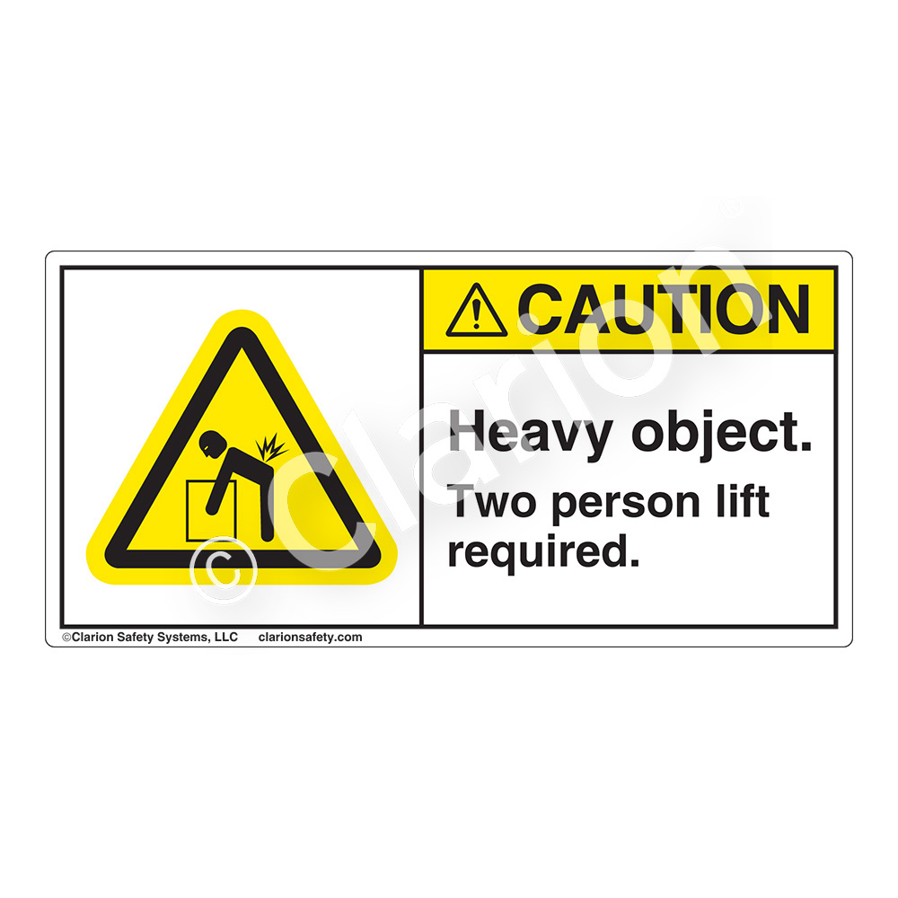 Caution/Heavy Object Label (H5101-RACH)