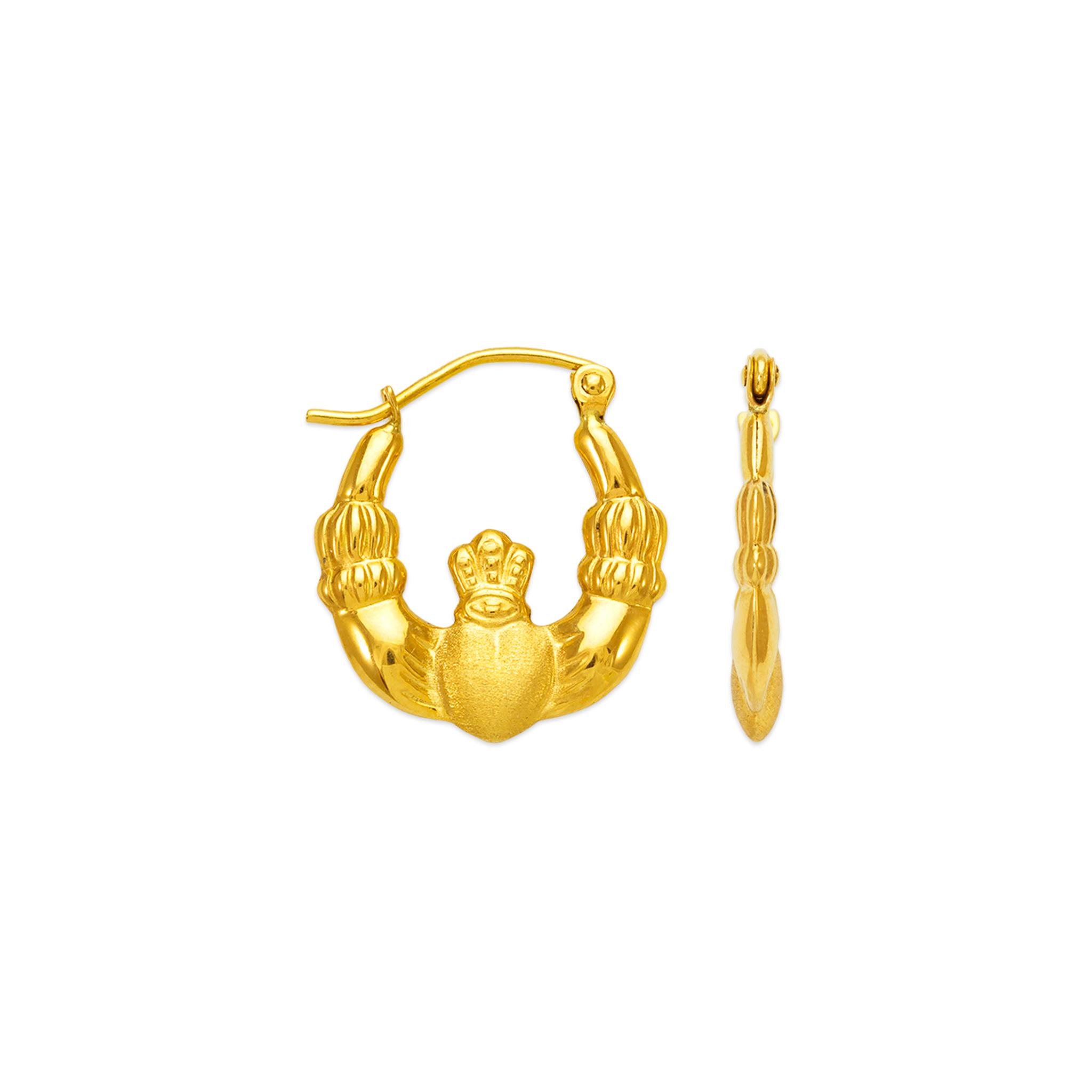 547 114 Hollow Shrimp Hoop Earrings Line Gold Inc