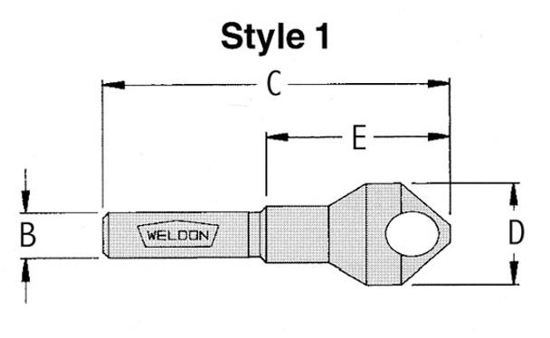 "WELDB-36 9/16""-1-3/32"" 90 degree Deburring Tool"