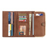 American West Annie's Secret Collection Ladies' Tri-Fold Wallet Antique Brown and Chocolate