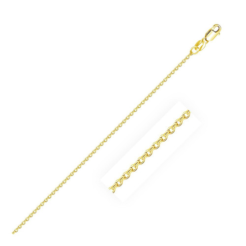 1.1mm 10K Yellow Gold Cable Chain