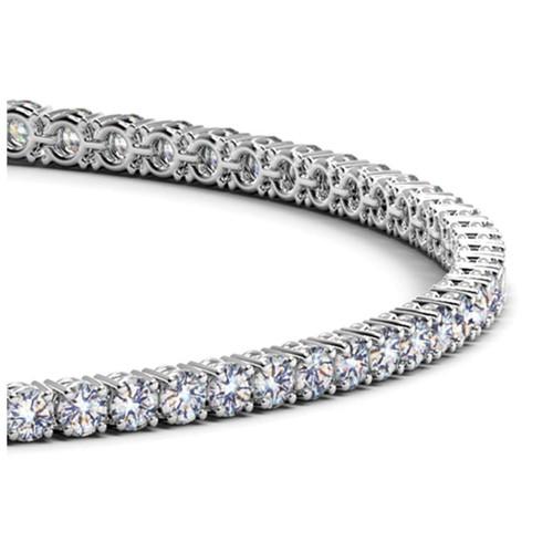 14K White Gold Round Diamond Tennis Bracelet (2 ct. tw.)