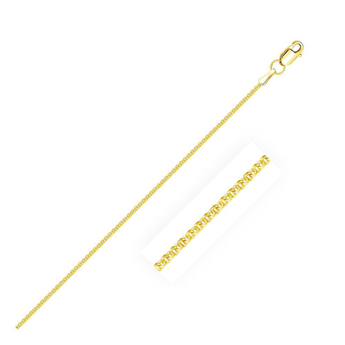1.5mm 14K Yellow Gold Forsantina Lite Cable Link Chain
