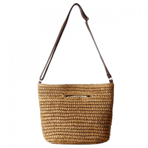 Large Raffia Straw Summer Clutch Handbag with Adjustable Crossbody Shoulder Strap