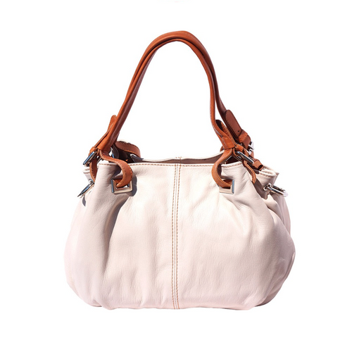 Italian Leather Collection 8655 Everyday Soft Italian Leather Bag in Blue or Ivory