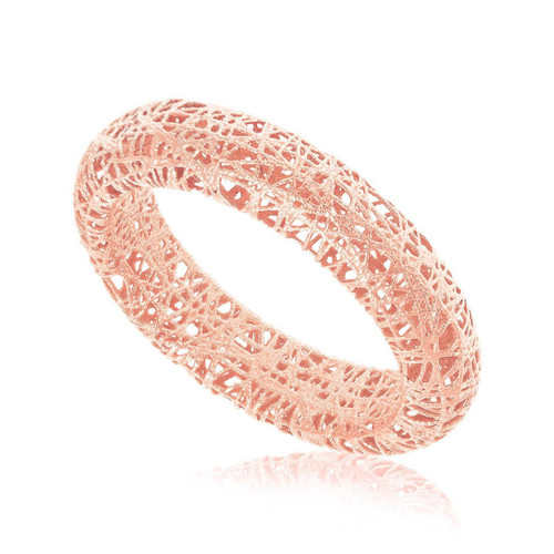14K Rose Gold Wire Mesh Tube Style Ring
