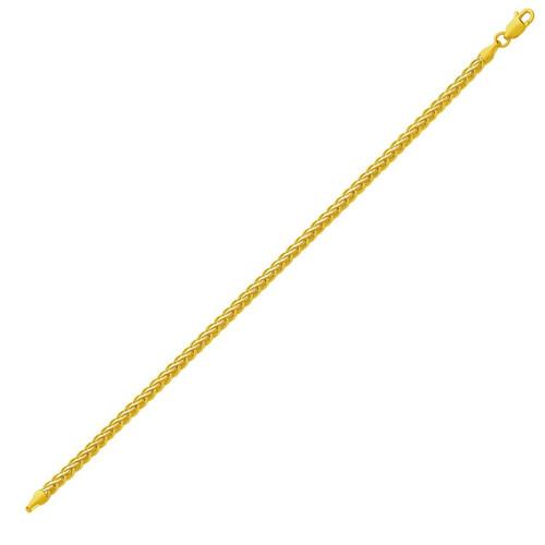 Fine Wheat Chain Bracelet in 10K Yellow Gold