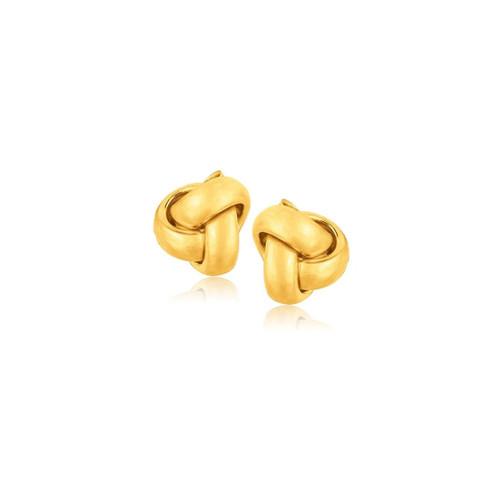 10K Yellow Gold Love Knot Stud Earrings