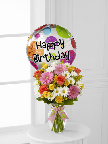 Birthday Cheer Bouquet w/Mylar
