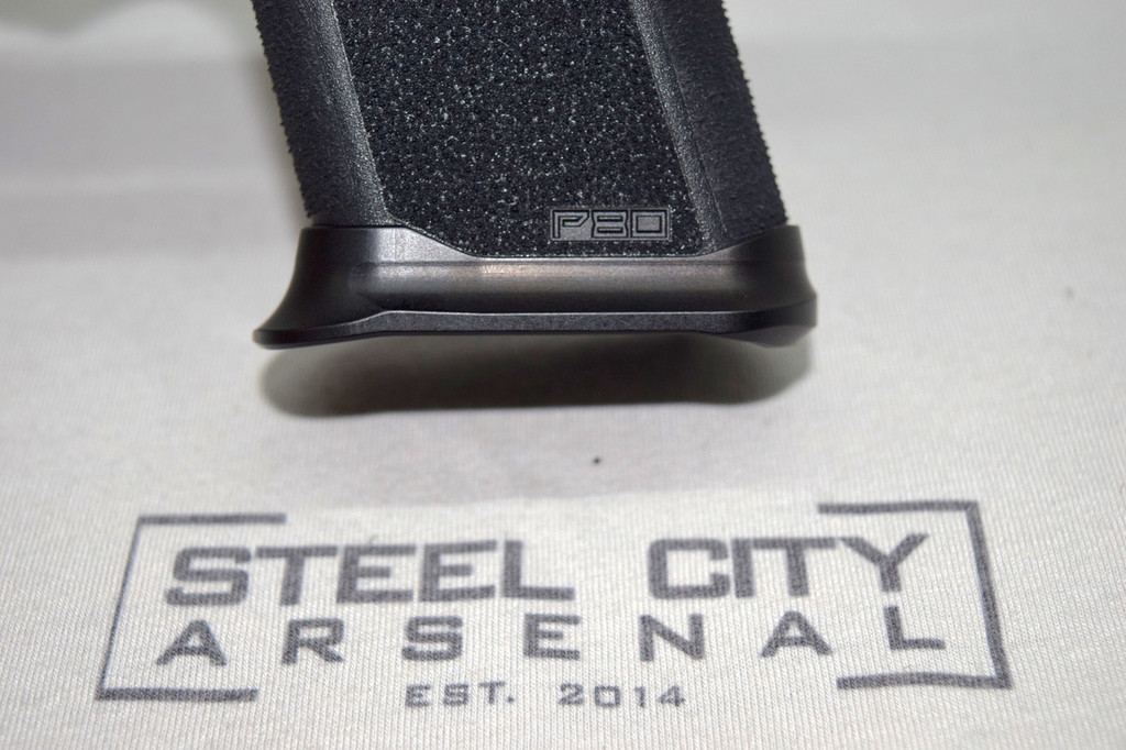 Steel City Arsenal Slim magwell for Polymer 80 PF940C Frames- Cerakote Armor Black