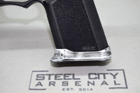 Steel City Arsenal Slim Magwell for Polymer 80 PF940C Compact Frames Battleworn White