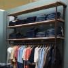 Industrial Pipe Clothing Rack   Large Wall Rack