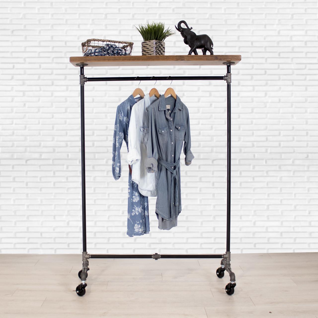 rack chrome pipe steel b reader extend sil adjustable stainless metal portable black garment in wardrobes n garmrack storage clothing mind organization closet racks