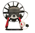 """DM10 SP drain machine with 16"""" open metal cable drum which runs 3/8"""" x 75' sewer snake"""