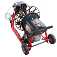 """DM10 SP sewer machine with 6"""" wheels for easy transportation when cleaning residential drain lines"""