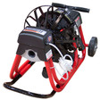 """DM10 SP Commercial drain machine with 16"""" spoke reel and 3/8"""" x 75' sewer snake"""