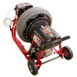 """DM10 SPB - Professional sewer machine with 6"""" wheels to move easily while cleaning residential drain lines"""