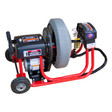 "DM10-SPB - Drain Cleaning Machine that cleans 1-1/4"" to 4"" drain lines with a 16"" enclosed cable drum and 3/8"" x 75 drain snake"