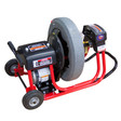 "DM10 SPC Commercial Drain Cleaning Machine with 19"" poly reel with 1/2"" x 75' drain cable to clean drain lines for 1-1/4"" to 4"" in diameter"