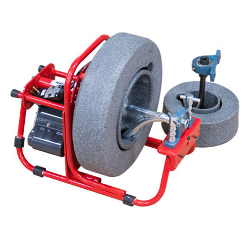 """DM138A2 drain machine with 14"""" cable drum and 8"""" cable drum with two drain cables 3/8"""" x 90' and 1/4"""" x 37' sewer cables"""