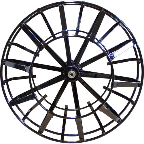"""The 21"""" open spoke metal reel works with the DM55 and is recommended to be used with 5/8"""" drain cables up to 100'."""