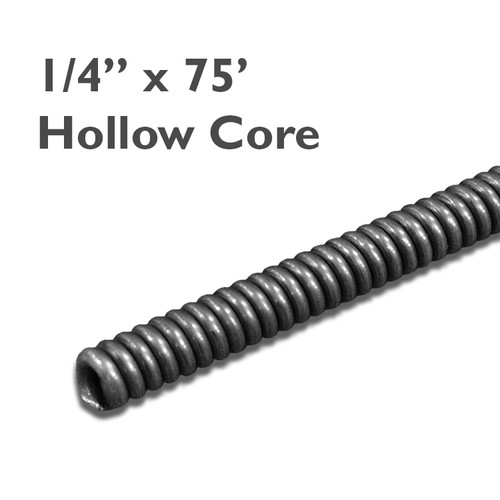 """CH25-075 - 1/4"""" x 75' Hollow Core Drain Cable"""
