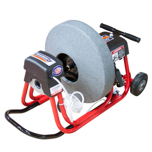 "DM10 SPC Sewer and Drain Cleaning Machine with 19"" poly reel with 1/2"" x 75' drain cable"