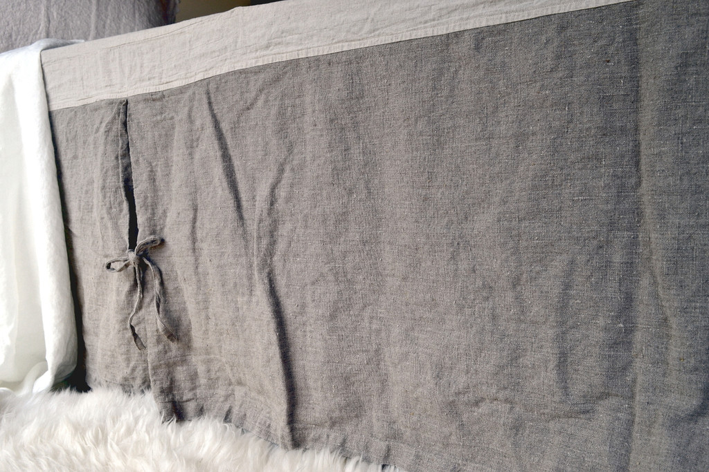 Natural Heavy weight Linen Box Pleated Valance⎮Bedskirt⎮Dust Ruffle