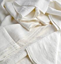 Antique white pure linen flat sheet
