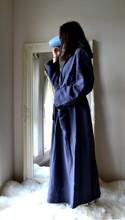 Midnight Blue Stonewashed Linen Bath/Spa Robe