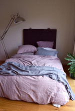 Faded Lilac Heavy weight Rustic linen quilt/duvet cover.