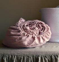 Rose Quartz Rustic heavy weight linen fitted sheet