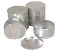 Round Metal Sample Containers