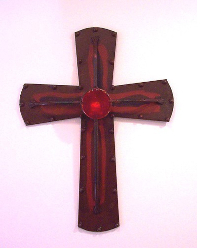 Rustic Cross Wall Candle Holder