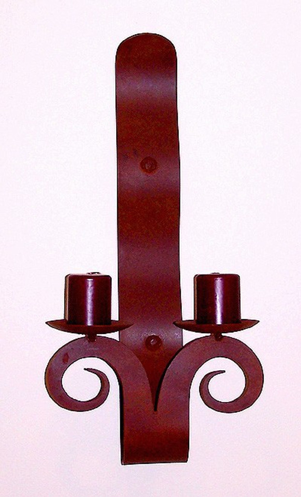 Double Ribbon Candle Sconce