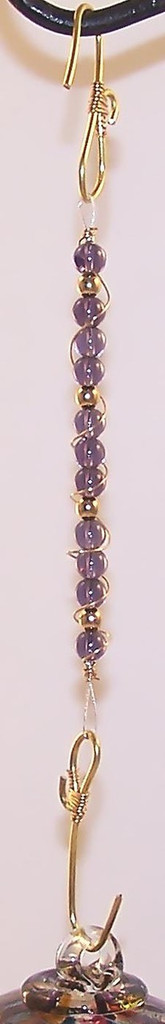 Beaded Hanger Purple