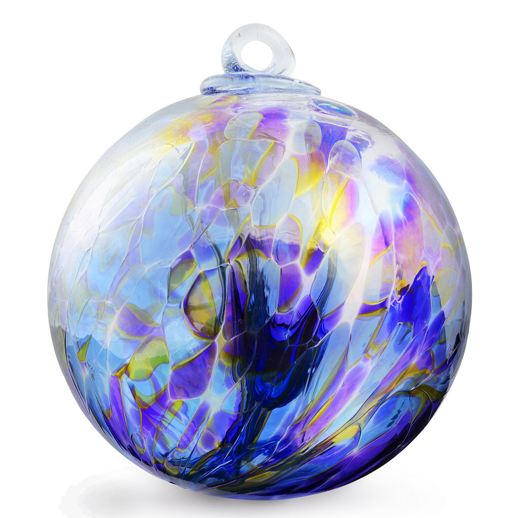 XL Witch Ball Chaos Iris™ Iridized