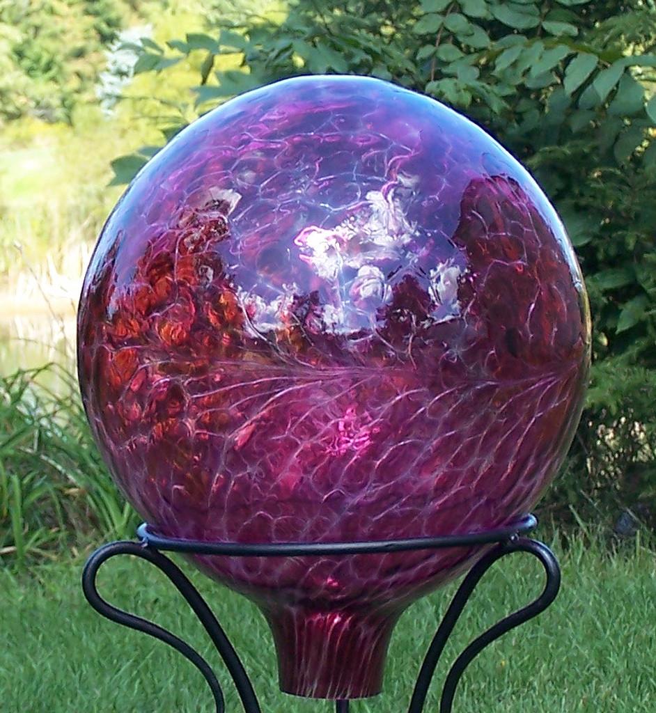 Gazing Ball Transparent Reds