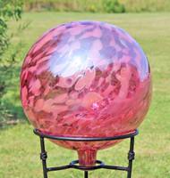 "Garden Gazing Ball ""Tea Rose"""