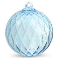 Diamond Optic Friendship Ball, Copper Blue (6 inch)