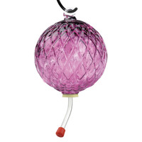 Hummingbird Feeder Diamond Optic Wine Red