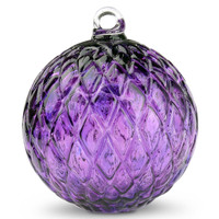 Diamond Optic Friendship Ball, Hyacinth (4 inch)
