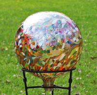 "Glass Gazing Ball ""Multicolor II"" 12 Inch (color outside)"